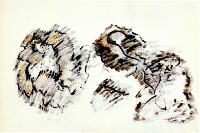 Henri Michaux Sans Titre, 1973 Acrylique sur papier